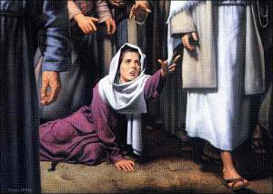 The Canaanite woman made a great leap of faith.