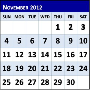 Look at this calendar; which is the first and last day?