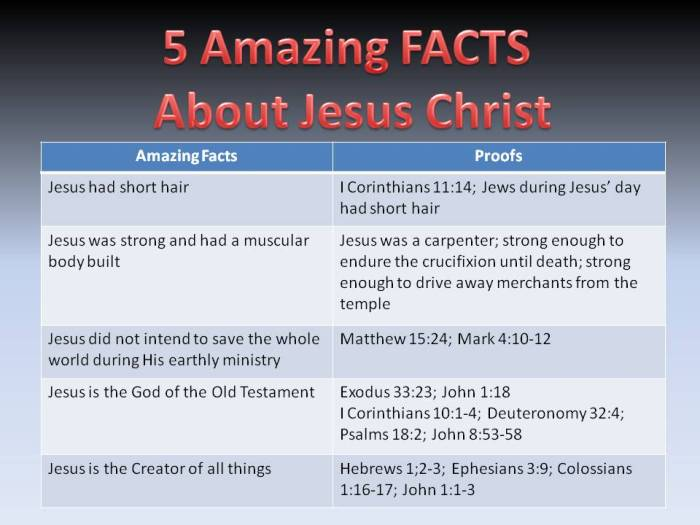 Amazing Facts about Jesus Christ