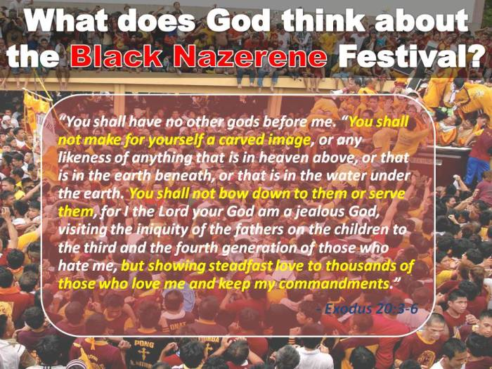 Is God Happy with the Black Nazarene Festival?