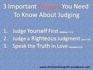 lessons about judging