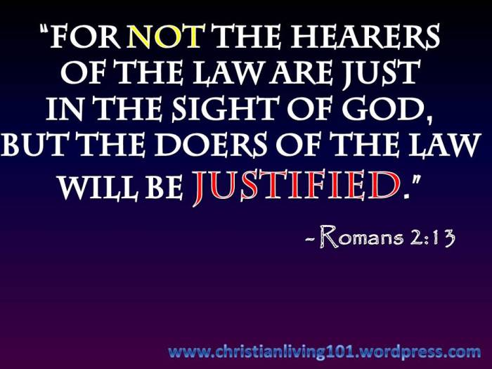 Don't be a hearer, but a DOER!