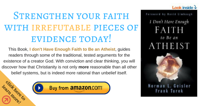 I Don't have enough faith to be an Atheist (ad banner)