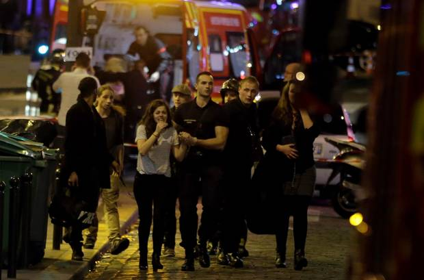 Survivors rescued from the Paris terrorist attack.