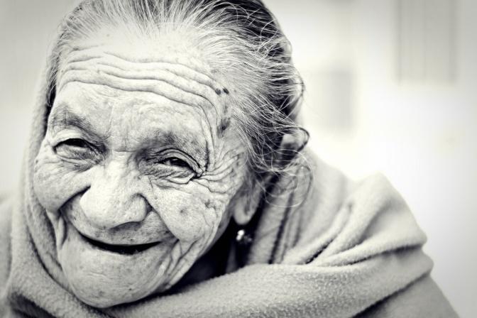 Old woman, faith of sarah