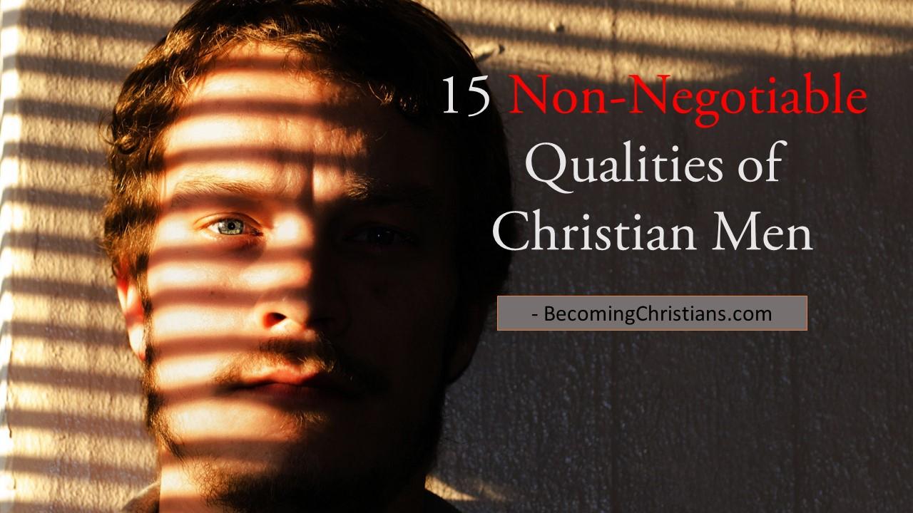 Christian dating non negotiables