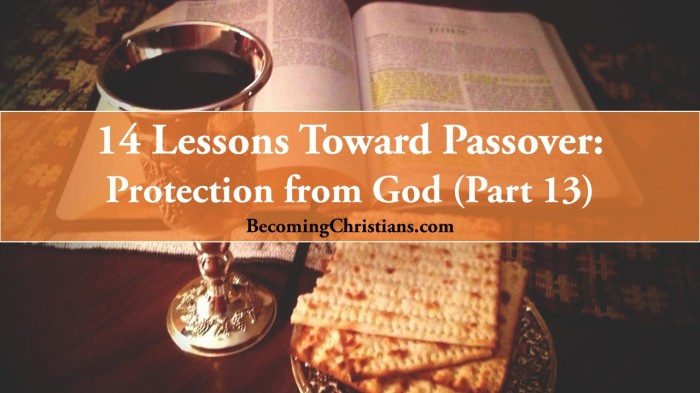 14 Lessons Toward Passover Protection from God (Part 13)
