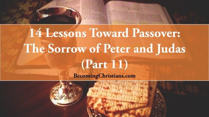 14 Lessons Toward Passover: The Difference Between the Sorrow of Peter and Judas