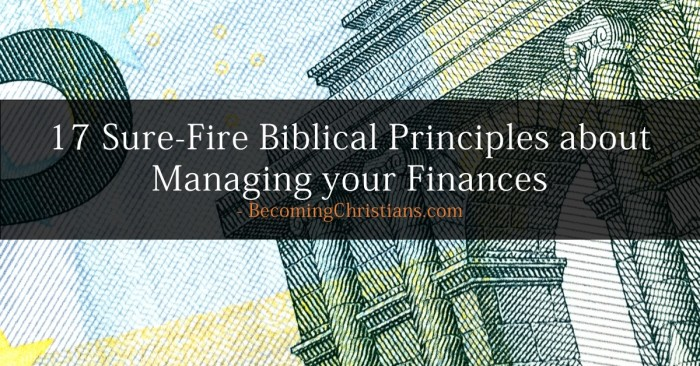 17 Sure-Fire Biblical Principles about Managing your Finances