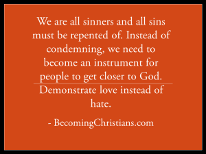 Quote about loving sinners