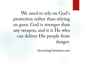 Christian quote about gun