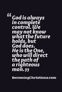 Christian quote about God in control.