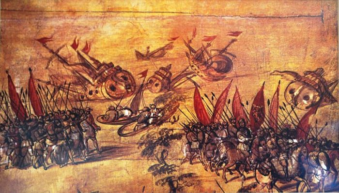 Destroying Hernan Cortes Destroying his Ship