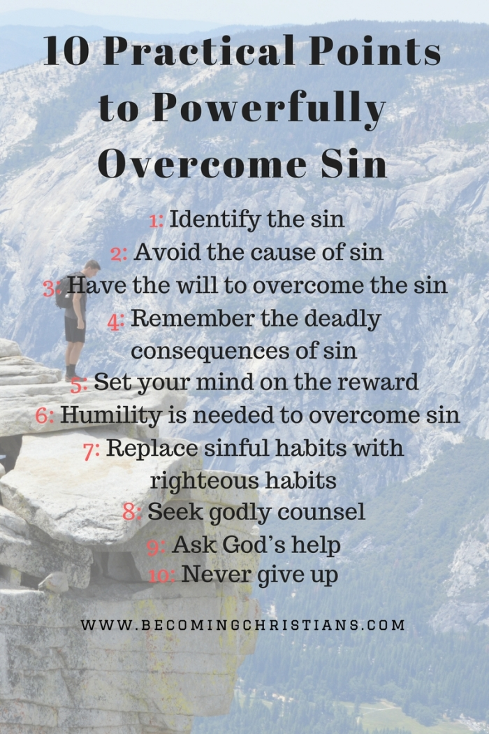 10 Practical Points to Powerfully Overcome Sin