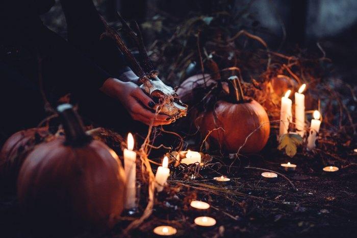 halloween, pumpkin, candles