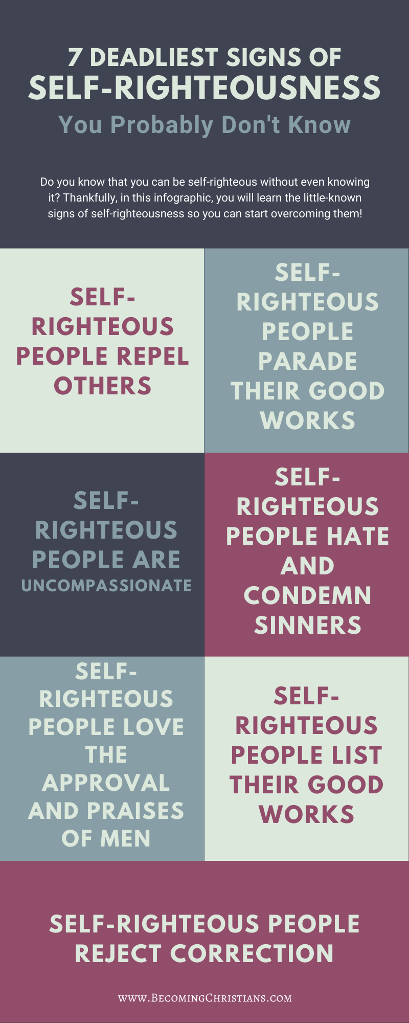 10 Signs of Self-Righteousness Infographics