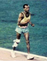 John Stephen Akhwari in 1968 Olympic Marathon Race
