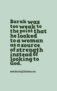Quote about Barak from the Bible