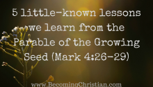 5 little-known lessons we learn from the Parable of the Growing Seed (Mark 4-26-29)