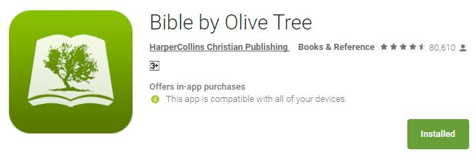 Bible by Olive Tree Mobile App