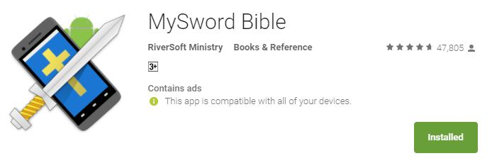 MySword Bible Mobile Application