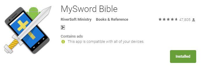 MySword Bible Mobile Application
