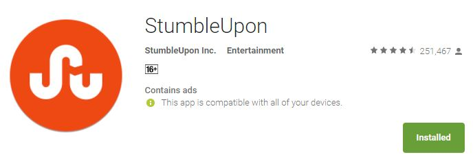 StumbleUpon Mobile App