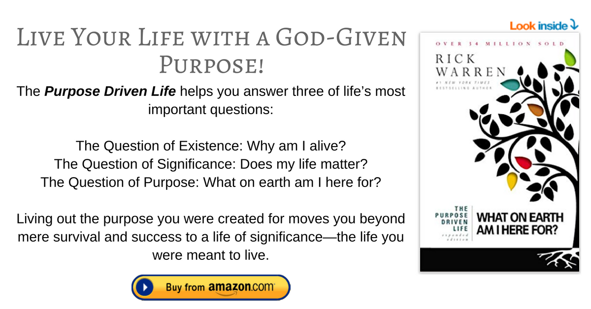 The Purpose Driven Life footnote