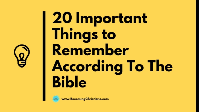 20 Important Things to Remember According To The Bible