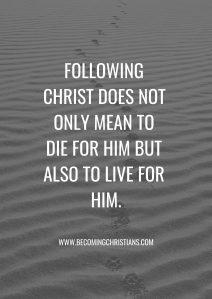Quote about how to follow Christ.
