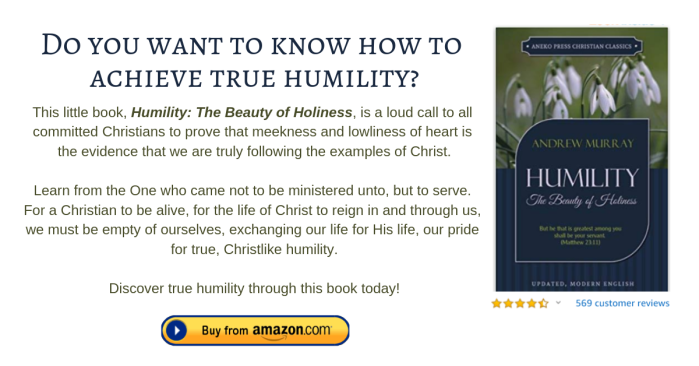Humility The Beauty of Holiness (footnote)