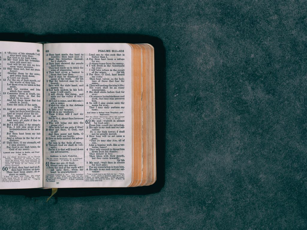 open bible with blank space