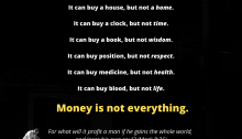 FB money quote what money can and cannot do