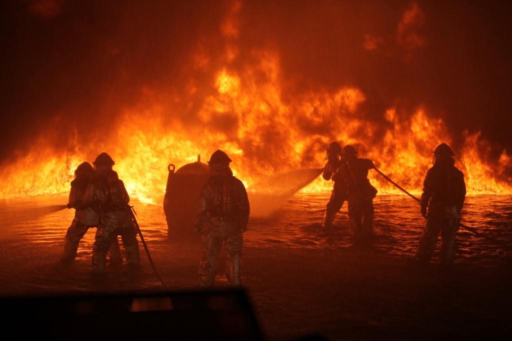 wildfire fire firemen fireman heat