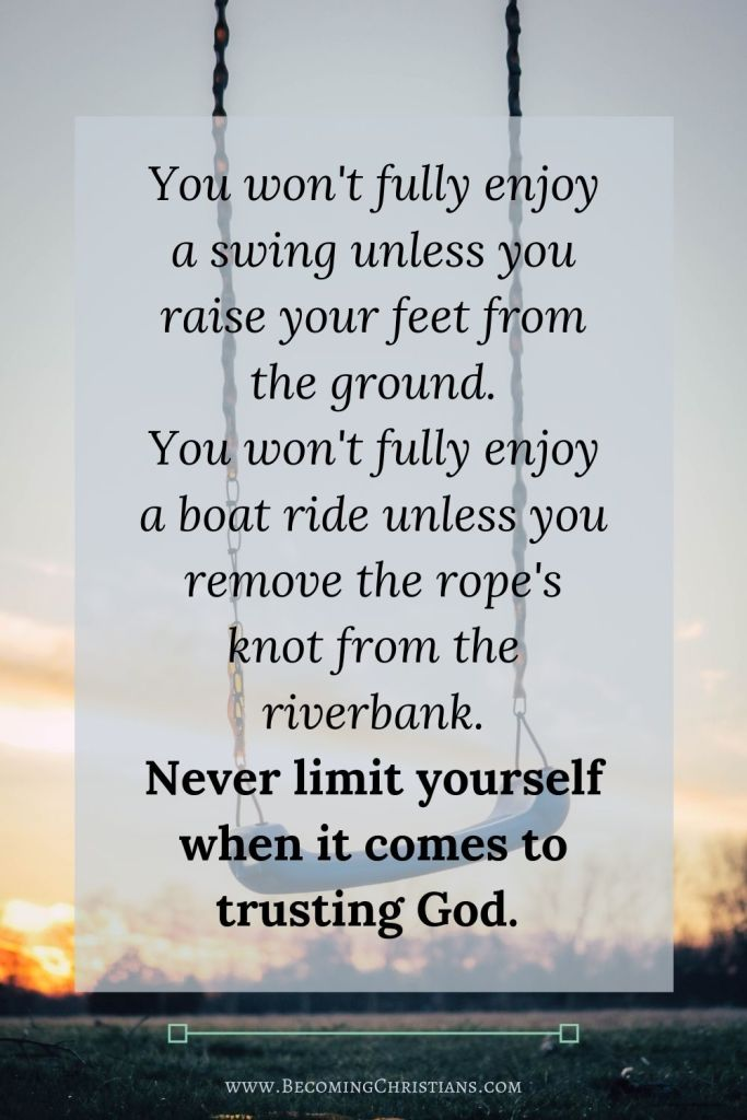 Quote about trusting God.