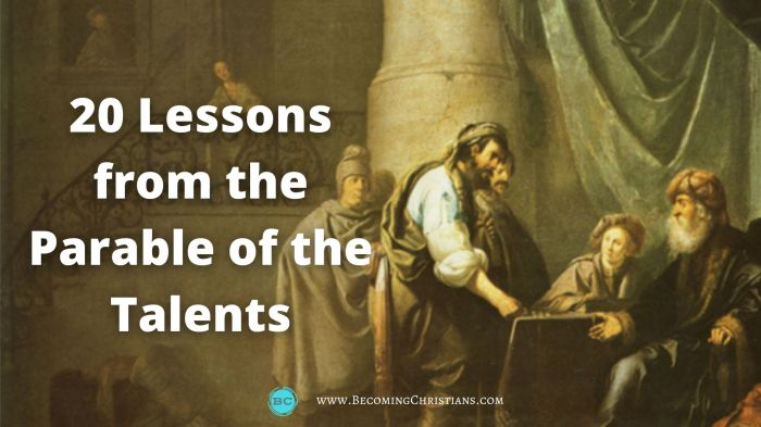 20 lessons from the parable of the talents